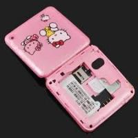 China Hello Kitty M10 mobile Quad Band Dual SIM Cards TV Java FM GSM Cell Phone on sale