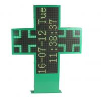 China Full Color Led Pharmacy Sign Board , Cross Led Sign P5 1280x1280mm Display on sale