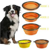 Quality Dog Feeder Eco Friendly Dog Products Food Collapsible Bowl Silicone Travel Pet Water for sale