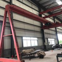 China Electric Semi Gantry Crane Light Duty Semi Single Girder Gantry Crane on sale