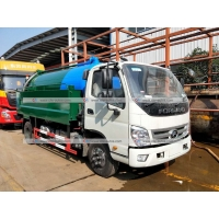 Quality Forland 5,000Liters Sewage Tank 2,000Liters Water Tank High Pressure Cleaning Sewage Suction Truck for sale