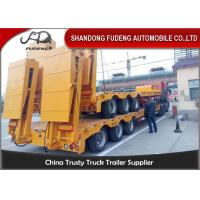 Quality 80 ton Gooseneck low loader Low Bed Tractor truck trailer sale Hydraulic ramp for sale