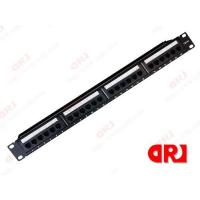 China 24 ports UTP Black Rj45 Cat5e Patch Panel For 19'' Network Cabinet on sale