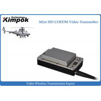 Quality Mini UAV HD Video Wireless Transmitter with LCD Display COFDM Wireless Video Link H.264 for sale