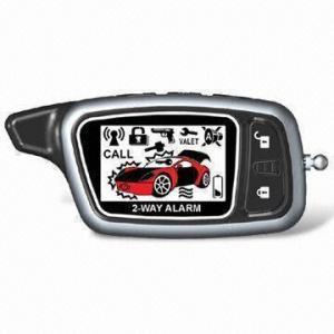 Quality 2-way LCD Display Remote Car Alarm, Includes 1pc 1-way Transmitter and 1pc 2-way Transmitter for sale