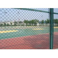 China Green Plastic Coated Chain Link Fencing Low Carbon Steel Wire Material on sale