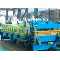 Quality Color Coat Metal Glazied Roof Tile Roll Forming Machine 4m/min - 6m/min Speed for sale