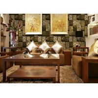 Buy cheap 3D Wood Printing PVC Material Living Room Decoration Wallpaper For 0.53*10M product