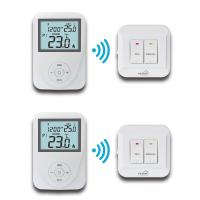 Buy Wireless Remote Sensor Controlled Thermostat / Domestic Programmable Thermostat at wholesale prices