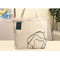 Quality 12 OZ Cotton Canvas Tote Bag , Small Canvas Bags 30*40cm Light Weight Beige for sale