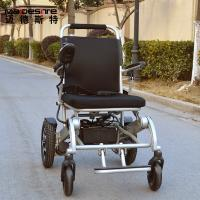Quality Light Weight Aluminum Alloy Electric Folding Wheelchair For Travelling for sale