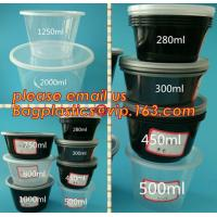 China Japanese Packaging Round Disposable Soup Salad Food Container Plastic Microwave Safe PP Bowl/Box With Lid bagplastics pa on sale