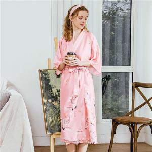 Buy Satin Kimono Bathrobe Women bath robe Bride Bridesmaid Wedding Robe Dress Gown at wholesale prices