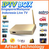 Quality Malaysia HD IPTV Set Top Box ASTON X8 ASRTO IPTV Android Box Support 156 Channles For Malyasia Singapore Indonesia for sale