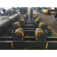 Double Drive Welding Pipe Rollers Adjustable Pipe Stands With 350x120 Rubber Wheels