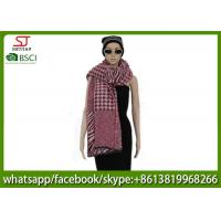 Quality 420g 200*78cm 100%Acrylic Woven Houndstooth Jacquard Poncho factory  keep warm fashion swallow grid scarf for sale