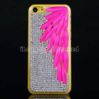 Buy cheap Leaf Rhinestone Crystal Diamond Case For iPhone 5C from wholesalers