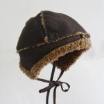 Quality Merino Rolled Wool Sheepskin Winter Sheepskin Hats Earflap Type For Children for sale