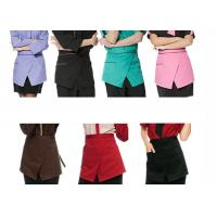 Restaurant Custom Cooking Aprons With Pockets , Front Slit Cute Waitress Aprons