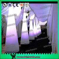 Quality 3M Wedding Events Party Decoration White Inflatable Cone Entrance Customized for sale