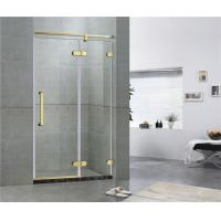 China Hotel Frameless Sliding Shower Doors 8MM Tempered Glass With Green Bronze Inline on sale