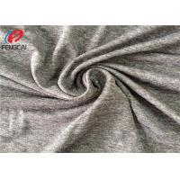 China Polyester Melange 5% Spandex Weft Knitted Fabric For Jersey With Dry Fit on sale