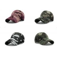 Quality Cool Custom Personalized Hats , Embroidery Camouflage Hip Hop Cap For Girls for sale