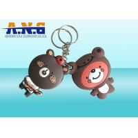 Buy cheap Waterproof Replacement Key Fob Rfid ,Passive Rfid Key Ring With Lovely Bear Logo product