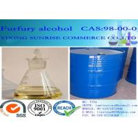 Furfuryl Alcohol Foundry Chemicals CAS 98-00-0 Colorless To Light Yellow Transparent Liquid