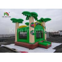 Buy cheap 5x4.5m Green Coconut Tree Kids Inflatable Jumping Castle / Blow Up Bounce House from wholesalers