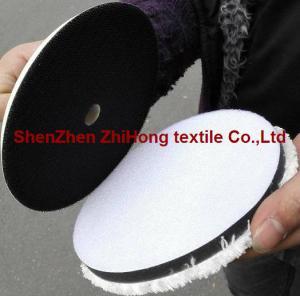 Quality High quality woolen/ fleece hookit sanding grinder Velcro  disc pad for sale