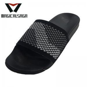Quality Men casual textile vamp flip flops outdoor comfort knit flat slipper upper for sale