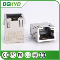 China 1Port Tab Up Plate RJ45 Ethernet Connector , SMD cat6 cable rj45 connectors with plating on sale