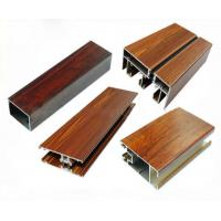 Quality Low Pollution Aluminum Window Frame Profile Wood Finish For Decoration for sale