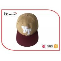 Buy cheap Cotton 3D Embroidery 6 Panel custom snapback caps for adults , bucket hat for boys product