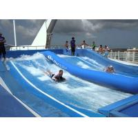 Quality Promotional Water Wave Pool Logo Printed / Double Person Portable Flowrider For Resort Hotel for sale