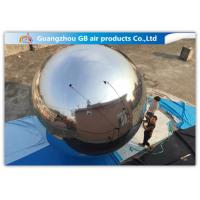Quality En71 Inflatable Holiday Decorations / Silver Reflective Inflatable Mirror Balloon for sale