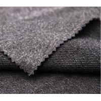 Quality Grey Color Circular Knit Fabric , Waterproof Cationic Weft Knitted Fabric for sale