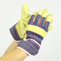 Quality Pig Split Leather Work Glove for sale