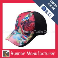 China Cheap Floral Printing Baseball Caps for Girl on sale