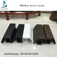 China High Quality Rain Drainage System Building Material Plastic PVC Rain Gutter System Downspout Fittings Rainwater Gutters on sale