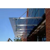 China Fashionable Stainless Steel Glass Canopy Withstand 12 Level Strong Typhoon Impact on sale