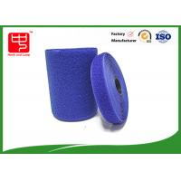 Buy Blue hook and loop tape customized adhesive backed hook and loop tape 100% nylon material at wholesale prices
