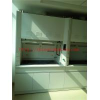 Quality Alkali And High Temperature  Resist All Steel Fume Hood With Third Level Air Exhaust / Tempered Glass Window for sale