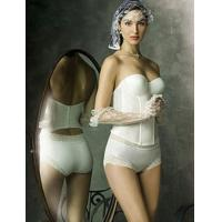 Quality OEM White Eco Friendly Cotton Overbust Professional Customized Body Wrap Corset Shapewear for sale