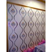 China White Bedroom Stained Decorative Glass Panels Easy Cleaning Stain Resistance on sale