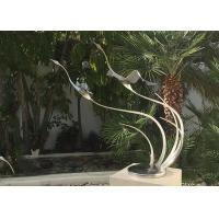Quality Metal Bird Abstract Yard Sculptures / Metal Wave Sculpture For Indoor Decoration for sale