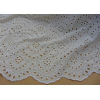 Quality Chemical Vintage Eyelet 100% Cotton Lace Fabric For Lady Shirt And Suit Anti Static for sale
