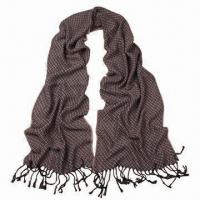Quality Acrylic Scarf in Solid Color, with Long Lace, Very Soft/Warm, Fashionable Design, Various Uses for sale