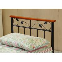Quality Artistic Stable steel frame bed with eco-friendly wood slat, single size for sale